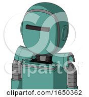 Greenish Mech With Bubble Head And Black Visor Cyclops