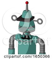 Greenish Mech With Cone Head And Vent Mouth And Black Visor Cyclops And Single Led Antenna