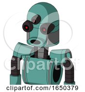 Greenish Mech With Dome Head And Round Mouth And Three Eyed