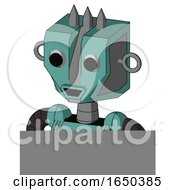 Greenish Mech With Mechanical Head And Happy Mouth And Two Eyes And Three Spiked