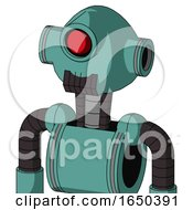 Greenish Mech With Rounded Head And Dark Tooth Mouth And Cyclops Eye