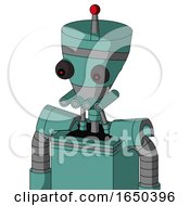 Greenish Mech With Vase Head And Pipes Mouth And Red Eyed And Single Led Antenna