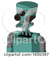 Greenish Mech With Vase Head And Pipes Mouth And Three Eyed