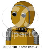 Dark Yellow Automaton With Bubble Head And Two Eyes