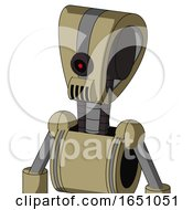 Army Tan Automaton With Droid Head And Speakers Mouth And Black Cyclops Eye