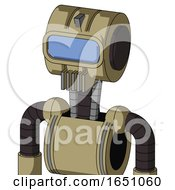 Army Tan Automaton With Multi Toroid Head And Vent Mouth And Large Blue Visor Eye
