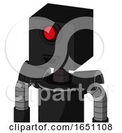 Black Automaton With Box Head And Happy Mouth And Cyclops Eye