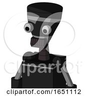 Black Automaton With Vase Head And Dark Tooth Mouth And Two Eyes