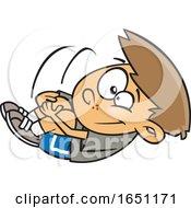 Cartoon Boy Doing An Egg Roll