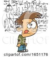 Cartoon Boy Visualizing