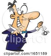 Cartoon Grinning Hypnotist