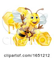 Bumble Bee Honey Comb Bumblebee Hive Cartoon
