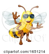 Cool Honey Bumble Bee In Sunglasses Cartoon