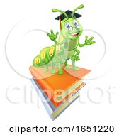 Books And Bookworm Worm by AtStockIllustration