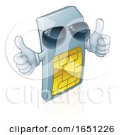 Sim Card Mobile Phone Cool Cartoon Mascot