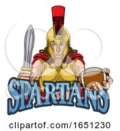Spartan Trojan Gladiator Football Warrior Woman