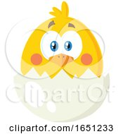 Poster, Art Print Of Hatching Chick In An Egg Shell
