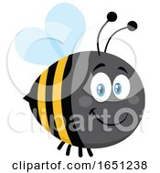 Cartoon Chubby Bumble Bee by Hit Toon #COLLC1651238-0037