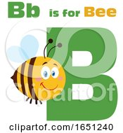 Cartoon B Is For Bee With A Happy Bee