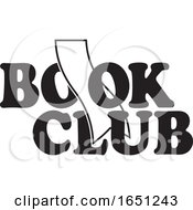 Black And White Book Club Design With A Bookmark