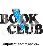 Book Club Design With A Blue Bookmark