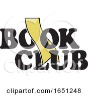 Book Club Design With A Gold Bookmark
