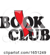 Book Club Design With A Red Bookmark