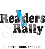 Readers Rally Design With A Blue Bookmark by Johnny Sajem
