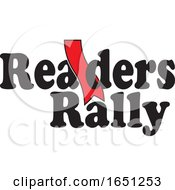 Readers Rally Design With A Red Bookmark by Johnny Sajem