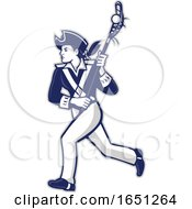 Female Patriot Lacrosse Player Mascot by patrimonio