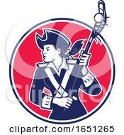 Female Lacrosse Player Patriot Mascot by patrimonio