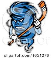Hockey Player Tornado Mascot