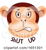 Monkey Is Saying Shut Up by Morphart Creations