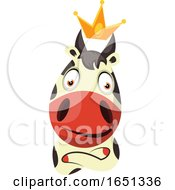 Poster, Art Print Of Cow Mascot Wearing A Crown