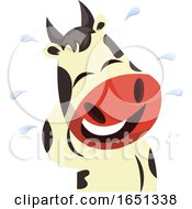 Poster, Art Print Of Cow Mascot Crying And Laughing