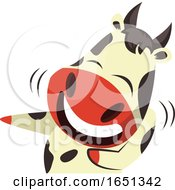 Poster, Art Print Of Cow Mascot Laughing And Pointing
