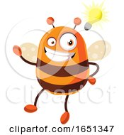 Poster, Art Print Of Chubby Bee Mascot With An Idea