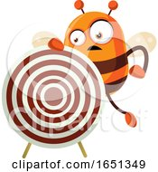 Chubby Bee Mascot With A Target by Morphart Creations