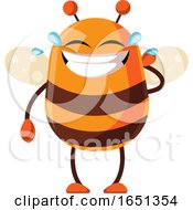 Chubby Bee Mascot Laughing And Crying by Morphart Creations