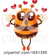 Poster, Art Print Of Chubby Bee Mascot In Love