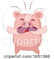 Pink Pig Crying by Morphart Creations