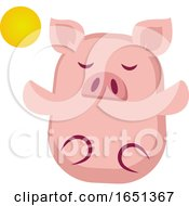 Pink Pig Meditating by Morphart Creations