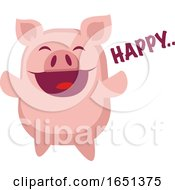 Happy Pink Pig by Morphart Creations