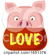 Pink Pig In Love by Morphart Creations