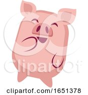 Pink Pig Giggling by Morphart Creations