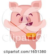 Pink Pig With A Purse