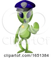 Green Extraterrestrial Alien Police Officer by Morphart Creations