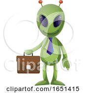 Green Extraterrestrial Alien Business Man by Morphart Creations