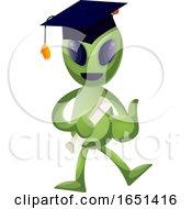 Green Extraterrestrial Alien Graduate by Morphart Creations