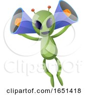 Green Extraterrestrial Alien With Megaphone Ears by Morphart Creations
